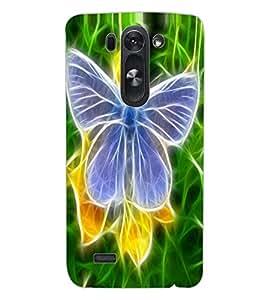 ColourCraft Digital Butterfly Design Back Case Cover for LG D722K