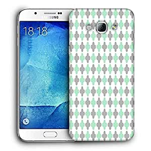 Snoogg Abstract Pattern White Design Printed Protective Phone Back Case Cover For Samsung Galaxy Note 5