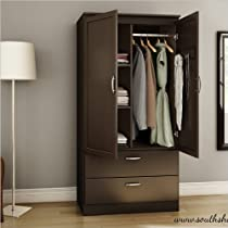 Hot Sale South Shore Acapella Wardrobe, Chocolate