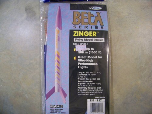 Estes 1917 Beta Series Zinger Flying Model Rocket Kit