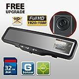 HD CAR DVR Rear View Mirror G SENSOR 32GB SD card accident camera video recorder HDVR-150