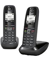Gigaset AS405 Duo Téléphone Sans fil DECT/GAP Noir