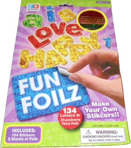 Fun Foilz Make Your Own Stickers - Letters and Numbers Value Pack - 1