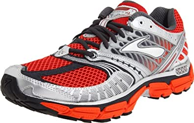 Brooks Men's Glycerin 9 Running Shoe,Cherry Tomato/Cardinal/Pavement/Silver/Anthracite,10.5 D US