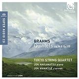 ブラームス: 五重奏曲集 (Brahms : Quintets Op.34 & Op.115 / Tokyo String Quartet, Jon Nakamatsu piano, Jon Manasse clarinet) (SACD Hybrid) [輸入盤]
