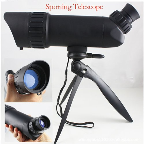 Nuoya001 Good Hunting 10X50 Spotting Double-Focusing Telescope/Bird Mirror Black