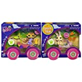 Littlest Pet Shop Pets On The Go Two-Pack ~ #1843 Monkey With Race Car And #1845 Bunny With Scooter
