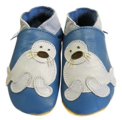 roots soft leather seal baby shoes size
