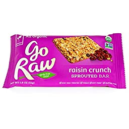 Freeland Go Raw, Raisin Crunch Sprouted Bar 1.8 oz (pack of 20)