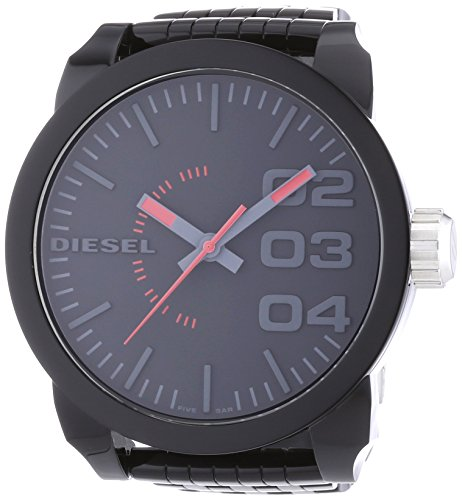 beseriet diesel dz1460 montre homme quartz analogique bracelet plastique noir. Black Bedroom Furniture Sets. Home Design Ideas