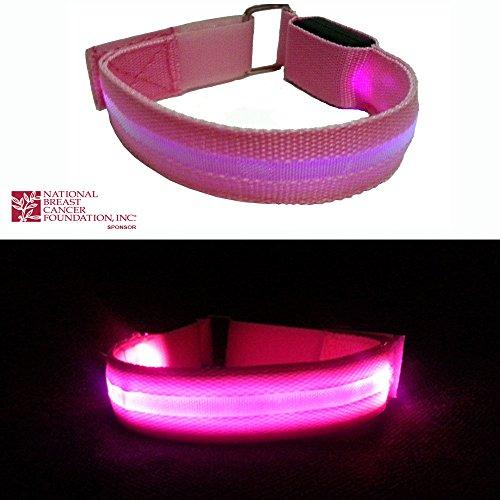 runners led armband jogging safety lights night walking reflective gear pin. Black Bedroom Furniture Sets. Home Design Ideas