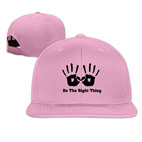 Custom Unisex Do The Right Thing Flat Brim Hip Hop Caps Hat Pink