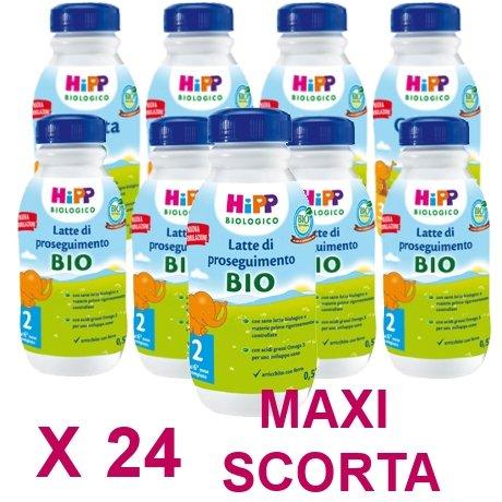 latte liquido Hipp 2 da 500 ml X 24 Confezioni - Pacco Convenienza