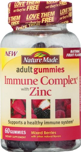 Nature Made Immune Complex With Zinc Adult Gummies Mixed Berries -- 60 Gummies