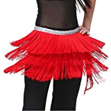 Dance Fairy Dance team costume Red Triangle Belly Dance Indian hip scarf Best gift