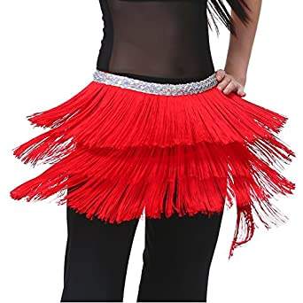 Dance Fairy Latest Red Triangle Dance hip scarf skirt for christmas shows