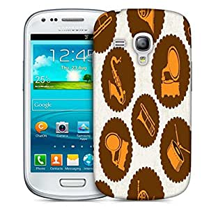 Snoogg Gramophone Designer Protective Phone Back Case Cover For Samsung Galaxy S3 Mini