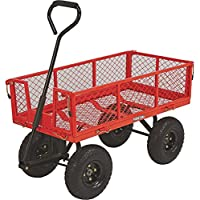 Ironton 34in.L x 18in.W 400-Lb. Capacity Steel Cart (Red)