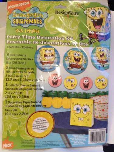Spongebob Squarepants Party-Time Decoration Kit - 1