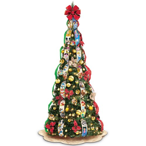 pull-up Christmas trees - Bradford Exchange Disney Wondrous Pre-Lit Pull-Up Christmas Tree