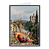 Edinburgh Festival fringe calvacade as it.. - Greeting Card (Pack of 2) - 7x5 inch - Art247 - Standard Size - Pack Of 2