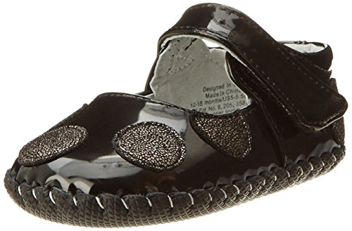 Pediped Originals Giselle Crib Shoe (Infant/Toddler),Black,Extra Small (0-6 Months) front-972149
