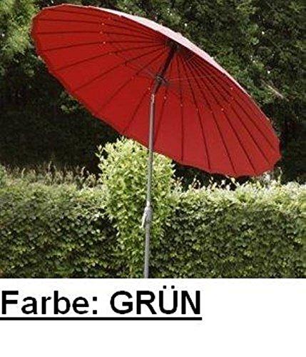 SONNENSCHIRM GARTENSCHIRM PREMIUM 250 CM GRÜN / DUNKELGRÜN günstig bestellen