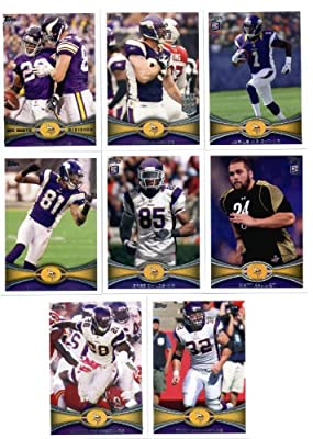 2012 Topps Minnesota Vikings Complete Team Set (Sealed) - 12 cards including Peterson, Harvin, Christian Ponder, Smith RC, Wright RC, Kalil RC, Childs, RC and more!