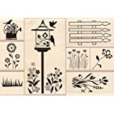 Flower Garden Wood Stamp Set