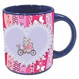 Printland Be My Ride Valentine day Blue Coffee Mug 350 - ml PMBu5042
