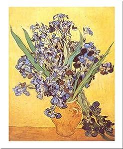 Les Iris by Vincent Van Gogh 20 X 16 Art Print Poster Purple Irises