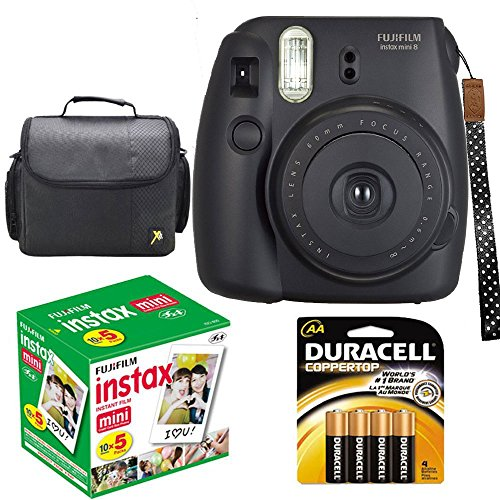 Check Out This Fujifilm Instax Mini 8 Instant Film Camera (Black) With Fujifilm Instax Mini 5 Pack I...