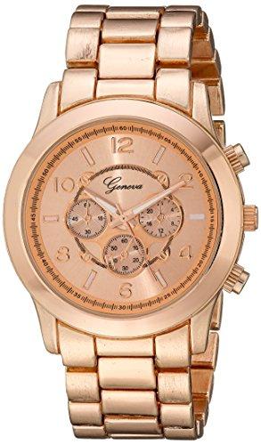 rose-gold-ginebra-reloj-cronografo-funda-con-soporte-de-metal-enlace-banda