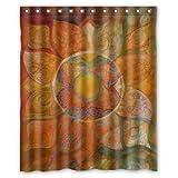 "Yestore Superior Custom Mandala Paisley Damask WaterProof Polyester Fabric 60"" x 72"" Shower Curtain"