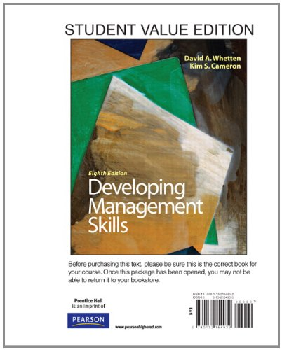 Developing Management Skills, Student Value Edition (8th...