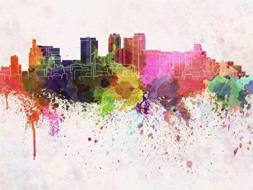 Painting Illustration Cityscape Birmingham Paint Splash Art Print Poster Mp5224B