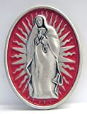 Buckle with the Virgin Mary in front of a silver sun ring