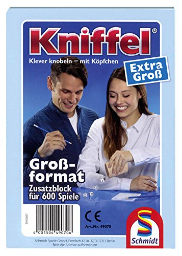 schmidt-spiele-49070-gioco-di-strategia-yahtzee-kniffel-importato-dalla-germania