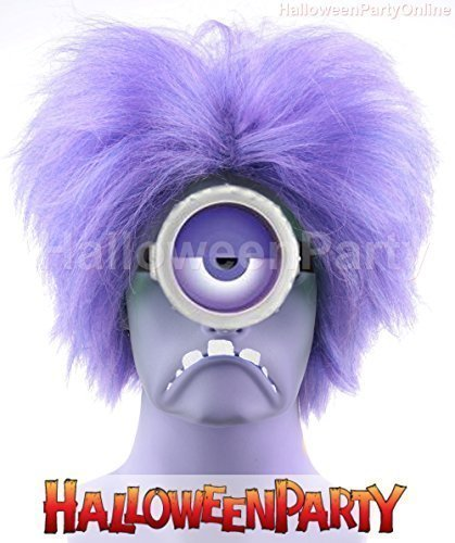 Halloween Party Online Minions Wig Afro Purple Evil Costume Cosplay Idea HW-140