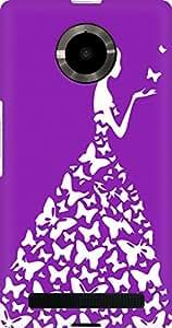 AMEZ designer printed 3d premium high quality back case cover for YU Yupheria (pink purple white girl princess)