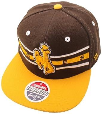 Buy NCAA Wyoming Cowboys Front Runner Snapback Cap, Dark Brown Chocolate by Zephyr