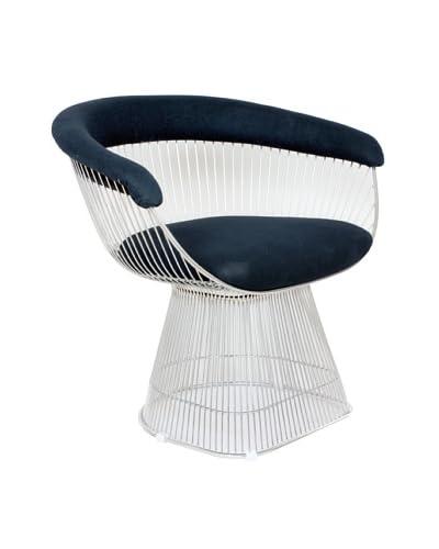 Stilnovo Warren Arm Chair, Black/Chrome