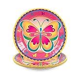 Butterfly Dessert Plates (8PC)