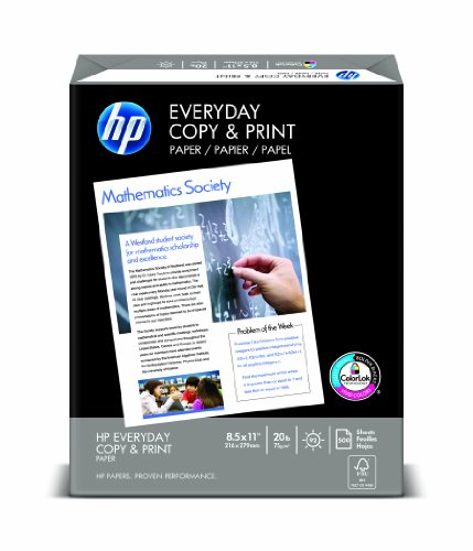 HP Everyday Copy and Print Paper, 8-1/2 x 11 Inches, 92 Bright, 500 Sheets/Ream (200060)
