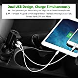 USB Car Charger, Ugreen Charger Adapter with Cigarette Lighter Socket and Dual USB Charging Ports 17W 3.4A (2-Port)