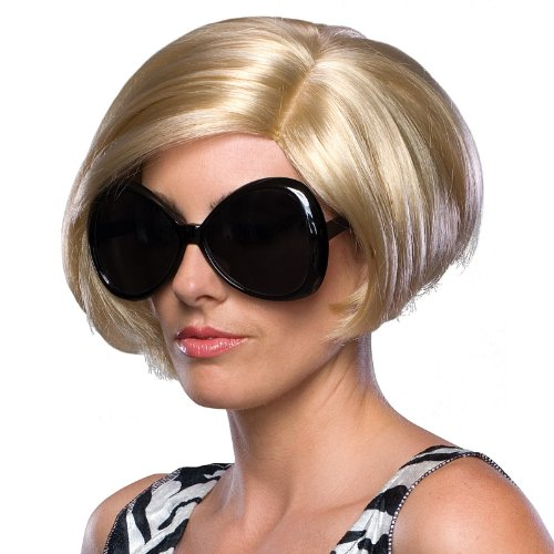 Rubie's Costume Spicy Soccer Wife Blond Wig, Yellow, One Size (Posh Spice Costume)