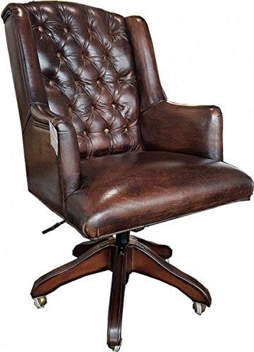 Casa-Padrino-Luxus-Echtleder-Chefsessel-Bro-Stuhl-Dunkelbraun-Drehstuhl-Schreibtisch-Stuhl-Chefbro