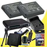 Two EN-EL9 Lithium Ion Replacement Batteries w/Charger + Memory Card Reader/Wallet + Deluxe Starter Kit for Nikon D40, D40x, D60, D3000, D5000 Digital Cameras deal 2015