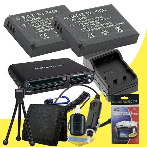 Two EN-EL9 Lithium Ion Replacement Batteries w/Charger + Memory Card Reader/Wallet + Deluxe Starter Kit for Nikon D40, D40x, D60, D3000, D5000 Digital Cameras sale off 2015