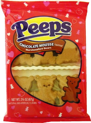 Chocolate Mousse Valentine Teddy Bear Marshmallow Peeps